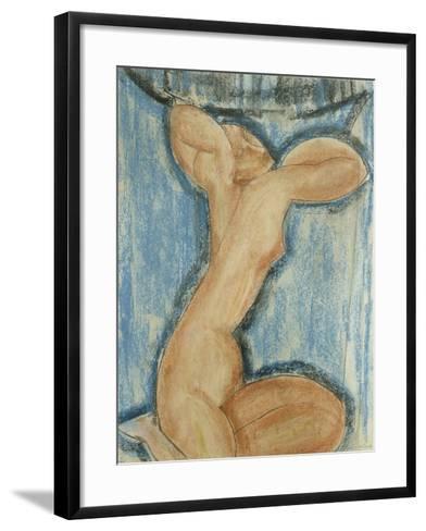 Cariatide-Amedeo Modigliani-Framed Art Print