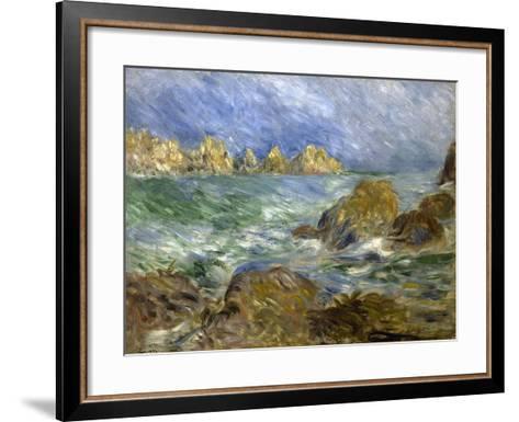 Marine: Guernesey-Pierre-Auguste Renoir-Framed Art Print