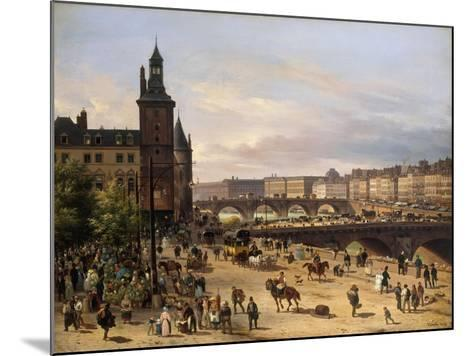 Le Marché aux fleurs, la Tour de l'Horloge, le Pont au Change et le Pont-Neuf-Giuseppe Canella-Mounted Giclee Print