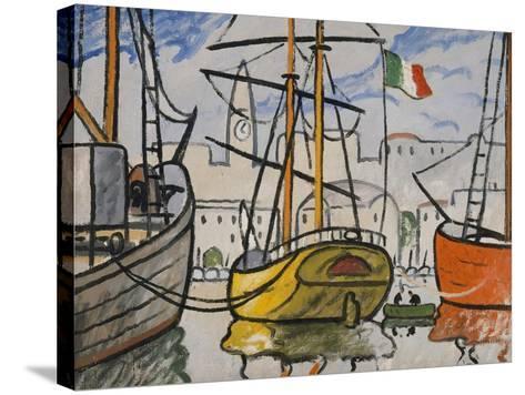 Marseille, bateaux au port, 1920-Louis-Mathieu Verdilhan-Stretched Canvas Print