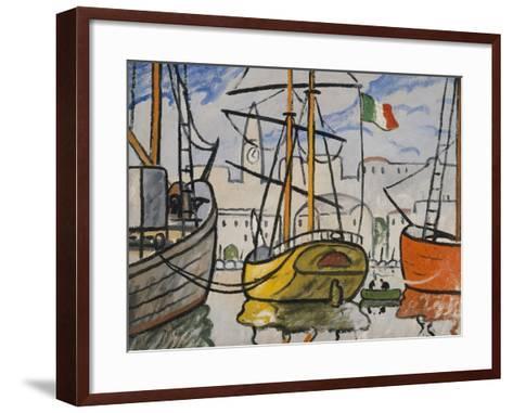 Marseille, bateaux au port, 1920-Louis-Mathieu Verdilhan-Framed Art Print
