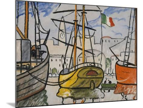 Marseille, bateaux au port, 1920-Louis-Mathieu Verdilhan-Mounted Giclee Print