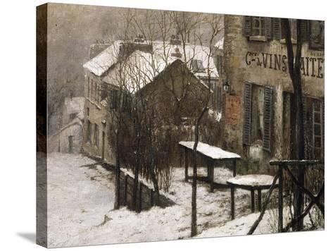 Le cabaret du Lapin Agile à Montmartre-Pierre Prins-Stretched Canvas Print