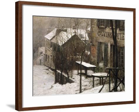 Le cabaret du Lapin Agile à Montmartre-Pierre Prins-Framed Art Print