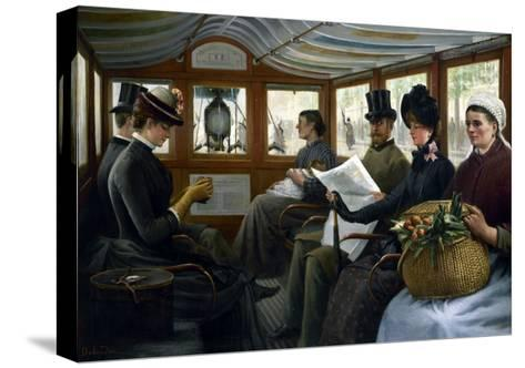 Dans l'omnibus-Maurice Delondre-Stretched Canvas Print
