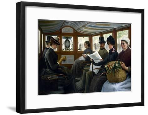 Dans l'omnibus-Maurice Delondre-Framed Art Print