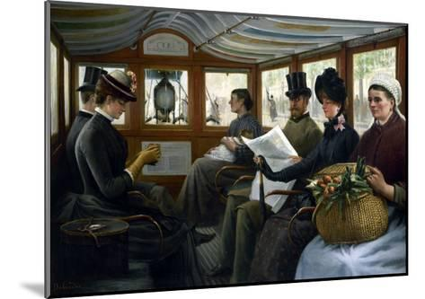 Dans l'omnibus-Maurice Delondre-Mounted Giclee Print