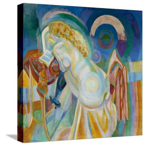 Nu à la coiffeuse-Robert Delaunay-Stretched Canvas Print