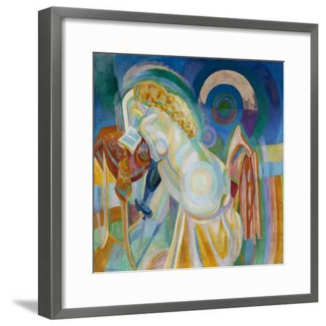 Nu à la coiffeuse-Robert Delaunay-Framed Art Print