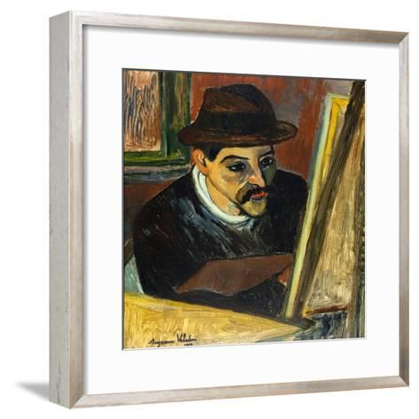 Utrillo devant son chevalet-Suzanne Valadon-Framed Art Print