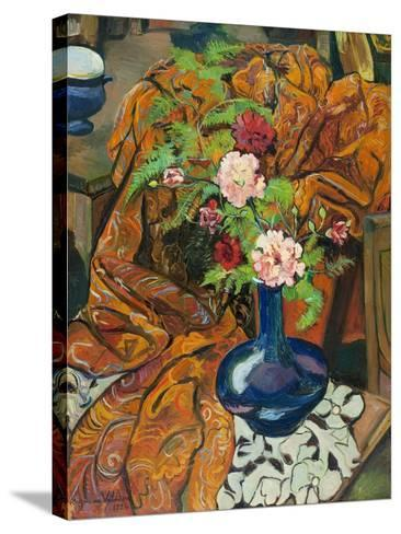Nature morte à la draperie et au bouquet-Suzanne Valadon-Stretched Canvas Print