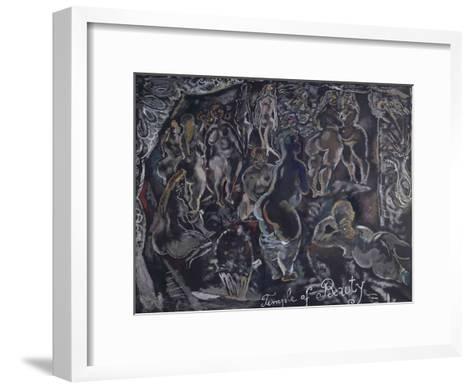 Temple of beauty-Jules Pascin-Framed Art Print