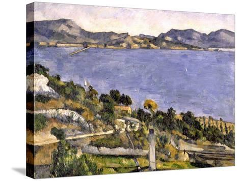 L'Estaque vue du golfe de Marseille-Paul C?zanne-Stretched Canvas Print