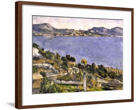 L'Estaque vue du golfe de Marseille-Paul C?zanne-Framed Art Print