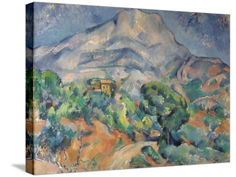 La montagne Sainte-Victoire au-dessus de la route du Tholonet-Paul C?zanne-Stretched Canvas Print