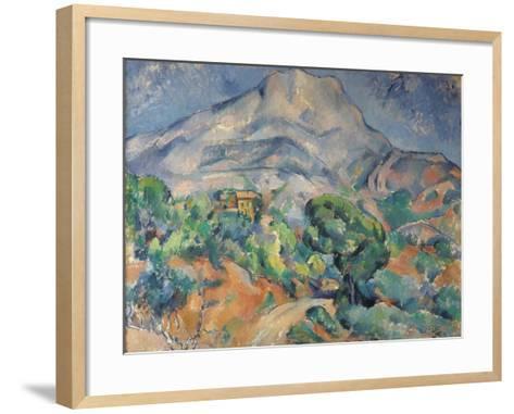 La montagne Sainte-Victoire au-dessus de la route du Tholonet-Paul C?zanne-Framed Art Print