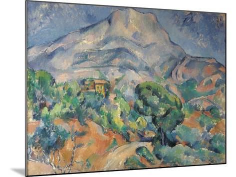 La montagne Sainte-Victoire au-dessus de la route du Tholonet-Paul C?zanne-Mounted Giclee Print