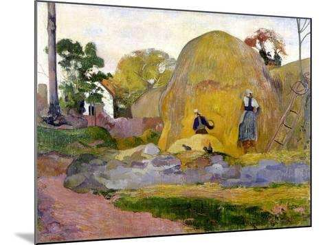 Les meules jaunes-Paul Gauguin-Mounted Giclee Print