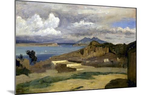 Ischia. Vue prise des pentes du mont Epomeo, au fond: Capri et le Vésuve-Jean-Baptiste-Camille Corot-Mounted Giclee Print