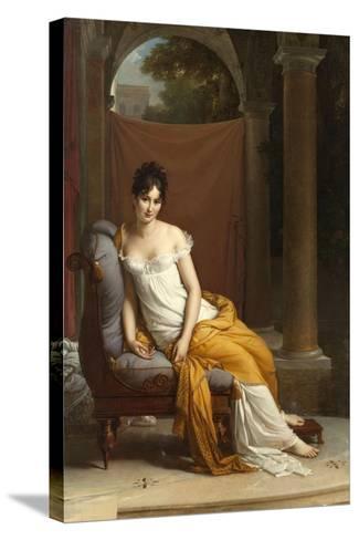 Portrait de Juliette Récamier-Francois Gerard-Stretched Canvas Print