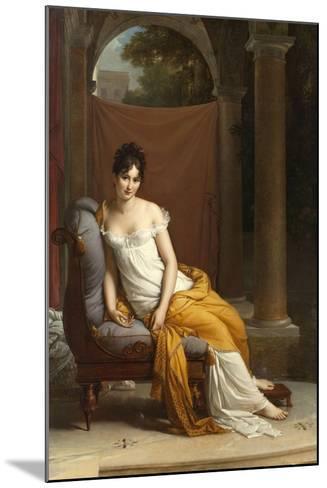 Portrait de Juliette Récamier-Francois Gerard-Mounted Giclee Print