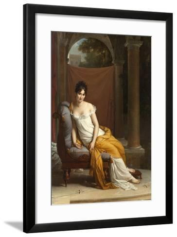 Portrait de Juliette Récamier-Francois Gerard-Framed Art Print