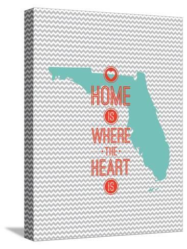 Home Is Where The Heart Is - Flordia--Stretched Canvas Print