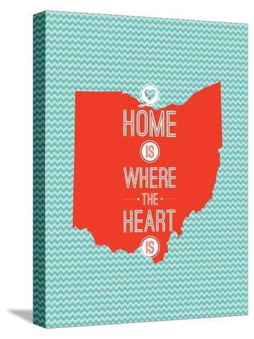 Home Is Where The Heart Is - Ohio--Stretched Canvas Print