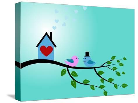 Bird Couple-adriatix-Stretched Canvas Print