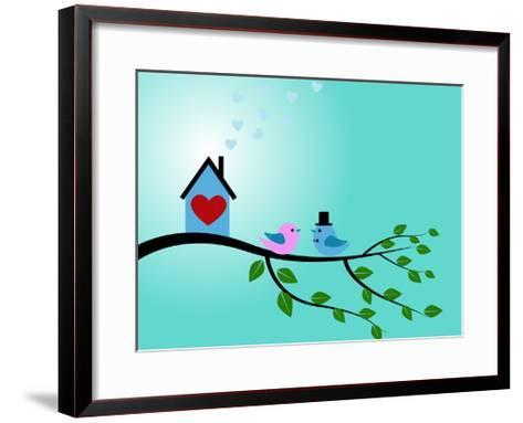 Bird Couple-adriatix-Framed Art Print
