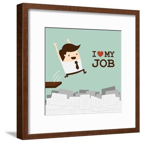 I Love My Job-Dooder-Framed Art Print