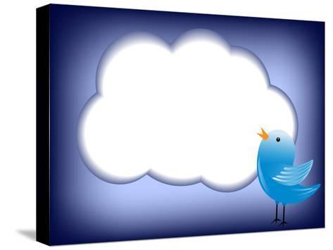 Tweet Cloud-EugenP-Stretched Canvas Print