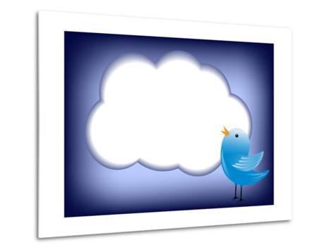 Tweet Cloud-EugenP-Metal Print