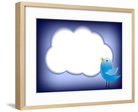 Tweet Cloud-EugenP-Framed Art Print