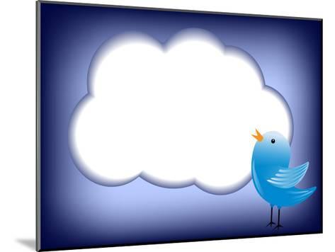 Tweet Cloud-EugenP-Mounted Art Print