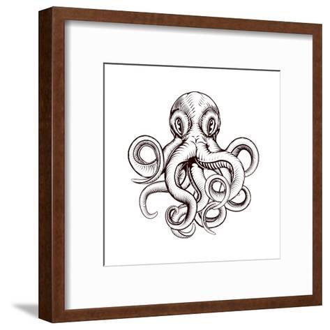 Octopus Illustration-Krisdog-Framed Art Print