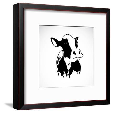 Vector Image of an Cow-yod67-Framed Art Print