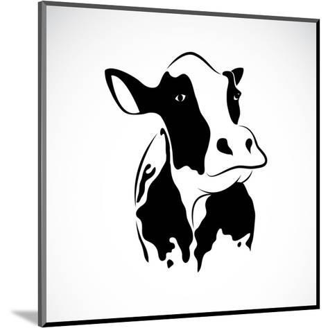 Vector Image of an Cow-yod67-Mounted Art Print