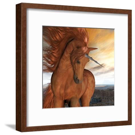 Burnt Sky Unicorn-Corey Ford-Framed Art Print