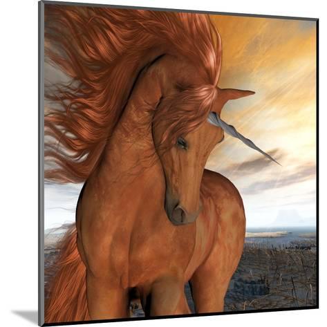 Burnt Sky Unicorn-Corey Ford-Mounted Art Print