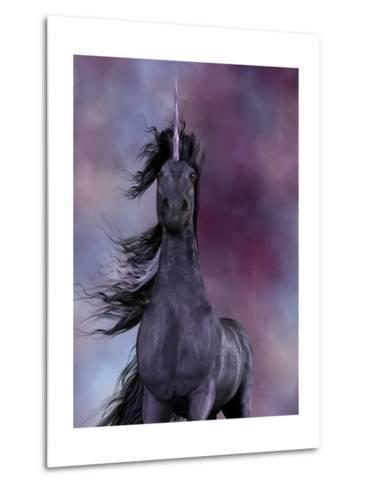 Black Unicorn-Corey Ford-Metal Print