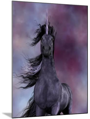 Black Unicorn-Corey Ford-Mounted Art Print