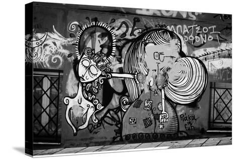 Graffiti in Athens Greece--Stretched Canvas Print