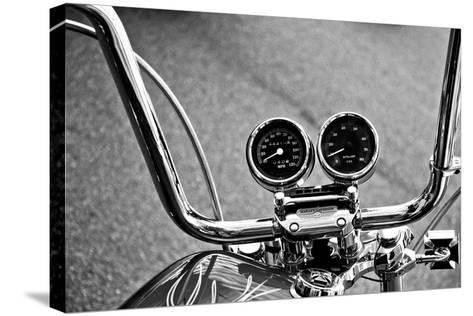 Harley Davidson Handlebars--Stretched Canvas Print