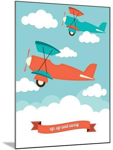 Biplane in the Clouds-Rachael Arnott-Mounted Art Print