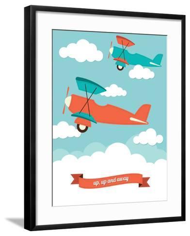 Biplane in the Clouds-Rachael Arnott-Framed Art Print