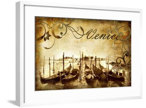 Venetian Pictures - Artwork in Retro Style-Maugli-l-Framed Art Print