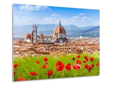 Florence, Duomo and Giotto's Campanile.-SerrNovik-Metal Print