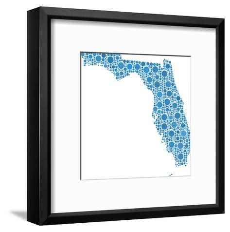 Map of Florida (Usa) in a Mosaic of Circles-aperitivi-Framed Art Print