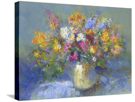 Painted Vase of Flowers-toitoitoi-Stretched Canvas Print